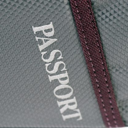 Passport logo on seat pack