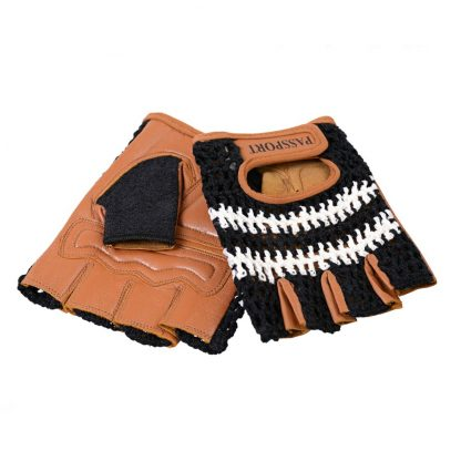Passport Crochet Back Cycling Mitts - Black