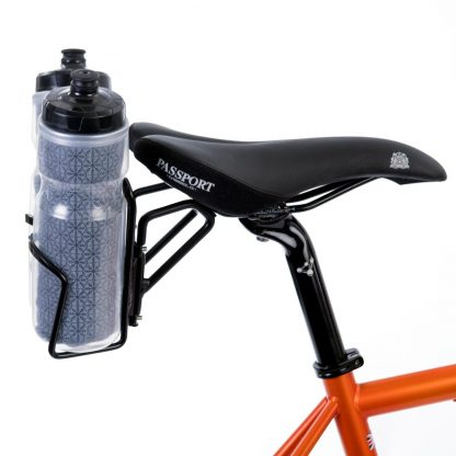 Saddle mounted water bottles