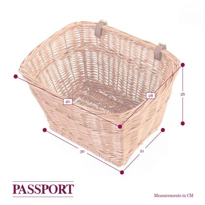 Passport Rectangular Wicker Basket dimensions