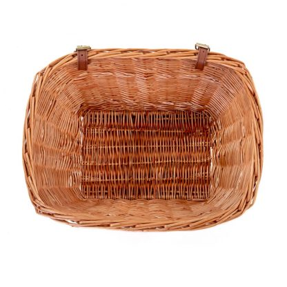 Passport Rectangular Wicker Basket top view
