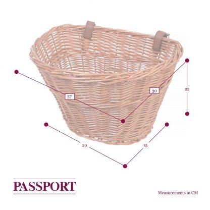 "Passport 15"" Basket dimensions"