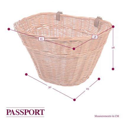 "Passport 18"" Basket dimensions"